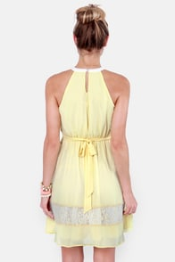 Lemonade to Order Yellow Halter Dress at Lulus.com!
