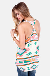 Sizzling Sunset Southwest Print Tank Top at Lulus.com!