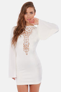 One Rad Girl Natalia Plunging Backless Ivory Dress at Lulus.com!