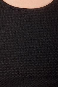 Textural Healing Black Peplum Top at Lulus.com!