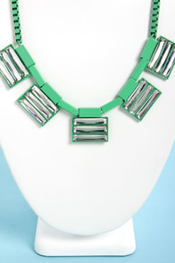 Romantic Entanglement Green Statement Necklace at Lulus.com!