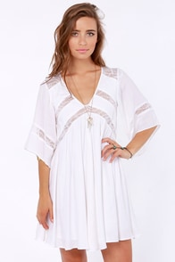 Ladakh Rain Dancer Ivory Lace Dress at Lulus.com!