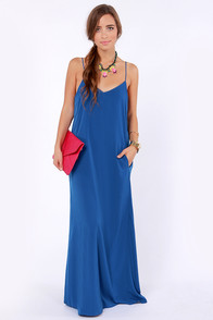 I'll Slink to That Royal Blue Maxi Dress at Lulus.com!