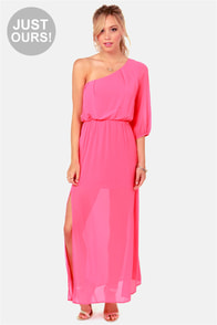 LULUS Exclusive One and Only Hot Pink Maxi Dress at Lulus.com!