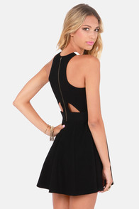 Rebel Epoque Black and Ivory Vegan Leather Dress at Lulus.com!