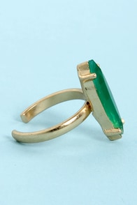 The Whole Nine Shards Green Knuckle Ring at Lulus.com!