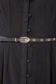 Black Sheep Ajala Belted Black Dress at Lulus.com!