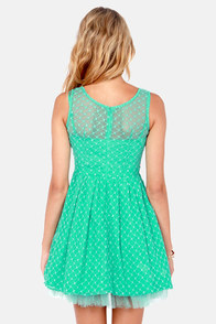 Climbing Rose Lace Sea Green Dress at Lulus.com!