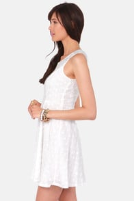 Eyelet You Know White Lace Dress at Lulus.com!
