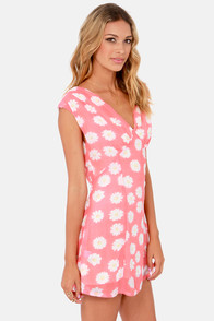 Gypsy Junkies Tyler Pink Floral Print Dress at Lulus.com!