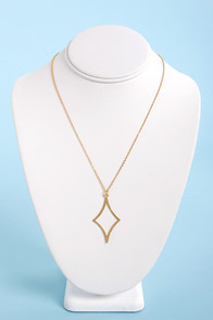 Ace of Diamonds Gold Necklace at Lulus.com!