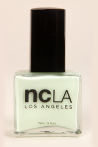 NCLA AM: Beauty Sleep, PM: Shopping Spree Mint Nail Lacquer at Lulus.com!