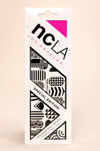 NCLA It Don't Matter Black and White Nail Wraps at Lulus.com!