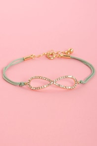All I Want is Forever Mint Green Infinity Bracelet at Lulus.com!