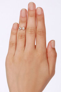 How Low Can You Bow Gold Rhinestone Knuckle Ring at Lulus.com!