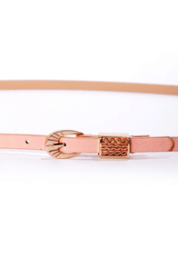 Exciting Events Pink Skinny Belt at Lulus.com!