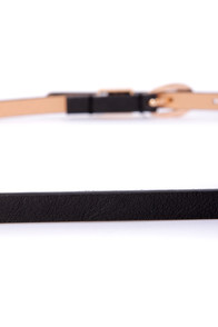 Exciting Events Black Skinny Belt at Lulus.com!