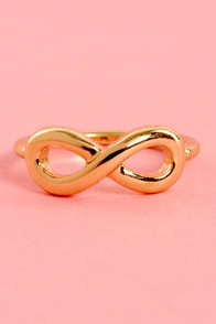 No Limits Gold Infinity Knuckle Ring at Lulus.com!