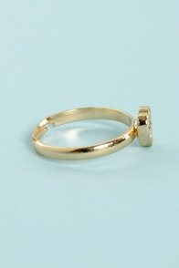 Heart Knuck Life Gold Rhinestone Knuckle Ring at Lulus.com!