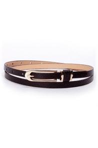 Belt-ty Page Black Snakeskin Skinny Belt at Lulus.com!