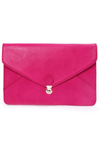 Clutch and Go Fuchsia Clutch at Lulus.com!