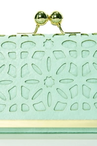 Shopping District Mint Green Clutch at Lulus.com!