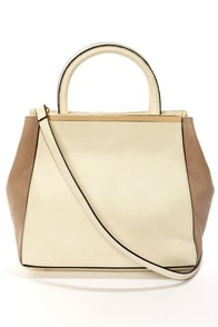 Grand Tote-All Taupe and Ivory Tote