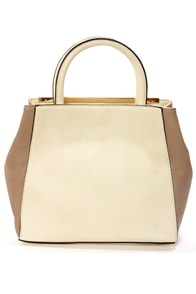 Grand Tote-All Taupe and Ivory Tote at Lulus.com!