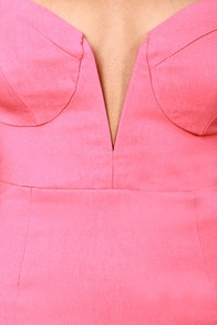Rolling in the Deep V Pink Strapless Dress at Lulus.com!