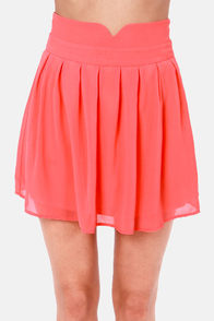 Over the Top Coral Skirt at Lulus.com!