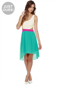 LULUS Exclusive Get My Drift Fuchsia and Teal Dress at Lulus.com!