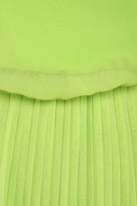 Re-pleat After Me Lime Green Dress at Lulus.com!