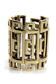 Daily Puzzler Stretch Ring at Lulus.com!