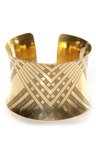Zad Are You Up For It? Gold Cuff Bracelet