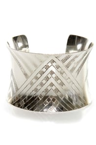 Zad Are You Up For It? Silver Cuff Bracelet at Lulus.com!