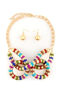 Egypt Alight Twisted Gold Necklace