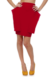 Pep Talk Red Skirt