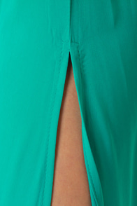 LULUS Exclusive Temptress Teal Maxi Dress at Lulus.com!
