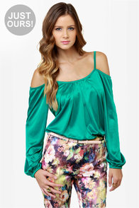 LULUS Exclusive Hot and Cold Teal Top at Lulus.com!