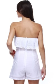 Theme Alabaster Inclinations White Romper