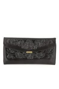 Spanish Rose Wallet in Black