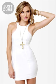 LULUS Exclusive Going Back to Cali Ivory Dress
