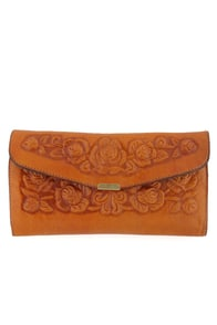 Spanish Rose Wallet in Tan