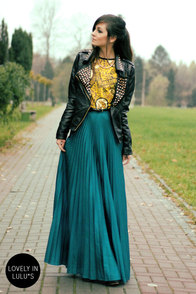 Blaque Label Mermaid's Path Teal Maxi Skirt at Lulus.com!