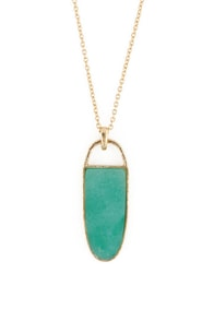 Green Fables Gold & Green Necklace
