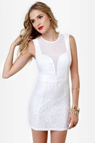 Like a Love Song Ivory Lace Dress at Lulus.com!