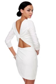 Mallow Flower White Dress