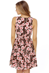 Verbena Flower Floral Print Dress at Lulus.com!