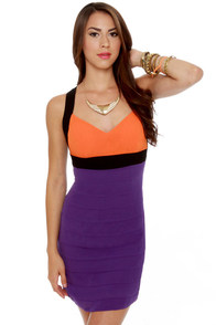 Bright Direction Color Block Dress