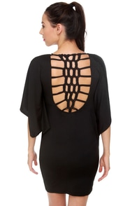 Wonder Braid Black Dress at Lulus.com!